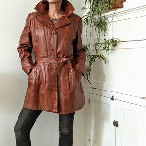 Jackets & Blazers - Vintage deadstock three season leather coat